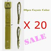 20pcs Tactical Tailor - Short 8 Coyote Malice Clips For Gerber,buck Knife Pouch