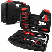 40-piece Household Tools Kit Small Basic Home Set With Plastic Toolbox Great For