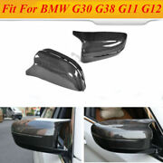 Mirror Cover Cap Fit For Bmw 5 Series G30 G38 G11 G12 18-19 Replace Carbon Fiber