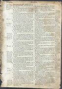 1560 Geneva Bible Leaf Ex. 20/21 - Ten Commandments Eye For Eye, Tooth For Tooth