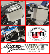 Honda Oem Left And Right Pannier Case Aluminum 2020 21 Africa Twin + Pannier Stays