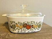Corning Ware Vintage 1970and039s Spice Of Life Le Persil La Sauge A-1 1/2-b 1.5qt