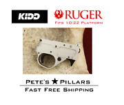 Kidd Ruger 10/22 Single Stage Trigger Assembly Charger 1022 Silver W/ Black Trim