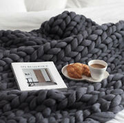 2021 Home 100 Acrylic Hand Knitted Blanket Thick Yarn Soft Home Textiles