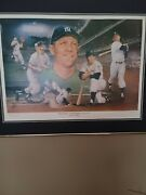 Mickey Mantle Autographed Proof 1 Of 60.this Is 1 Of 10 That Are Autographed