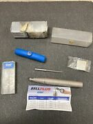 Iscar Ballplus Hcm D50-b-l65-c75 Indexable Ball Nose End Mill Kit W/ New Cutters