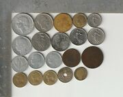 France Qty 20 Coin Lot Dated 1856 -1993 Collectible French Coins Francs Centimes