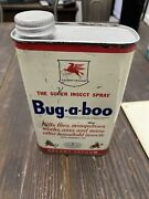 Vintage Socony Vacuum Mobil Oil Bug A Boo Oil Can Great Fly Graphic Insect Spray