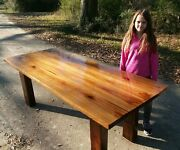 All Bookmatched Real Old Growth Sinker Cypress Plank Wood Desk Or Harvest Table