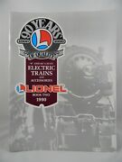 1990 Lionel Book 2 0 And 027 Gauge Electric Trains And Accessories 90 Years