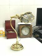 Reclaimed Ship Cast Brass Industrial Desk Lamp Student Bankers Piano Lamp Base