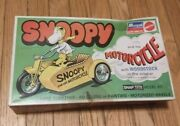 Snoopy And His Motorcycle 1971 Vintage Model Kit Mattel Peanuts W/ Box-read Desc