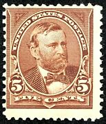 Us Stamps 19th Century Unused Sc 223 Mog Previously Hinged 5 Cent Grant