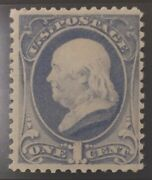 Us Stamps 19th Century Unused Sc 206 Mnh 1 Cent Franklin