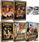 Gunsmoke All James Arness Movie Series - 1 2 3 4 5 - New Dvd Complete Set With