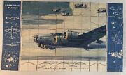 Extremely Rare Wwii Know Your Planes Boeing B-17 Flying Fortress Picture Puzzle