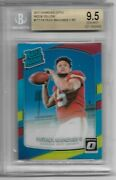 2017 Donruss Optic Red And Yellow 177 Patrick Mahomes Rc Graded Bgs 9.5 Gem Mint