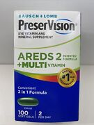 Preservision Areds 2 Multi Vitamin 100 Softgels Bausch + Lomb 11/2022 And Better
