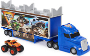 Monster Jam Official 2-in-1 Transforming Hauler Playset With Exclusive 164 El