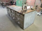 8and039 Long X 3and039 Dp X 3and039 Tall X 1and039and039 Steel Top 12x Drawer Sst Base Welding Table