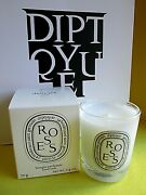 Diptyque Roses Candle New In Box Travel 2.4 Oz 70g Tender Rose Made In France