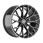 4 Hp1 22 Inch Black Machined Rims Fits Nissan Rogue Select S 2014 - 2015
