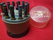 Koh-i-noor Rapidograph H.r.s. 12 Pen Set Vintage W/humidified Revolving Selector