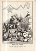 1906 Santa Claus On Trial - Original Print From Colliers - Large By E W Kemble