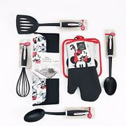 Disney Kitchen Gift Set Oven Mitts Spatula Spoons Whisk Mickey Minnie Mouse New