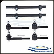 6 Pieces Fits 1995-2002 Lincoln Town Car Inner Outer Tie Rod End Suspension Kit