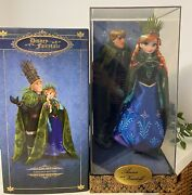 Disney Store Fairytale Designer Anna Kristoff Limited Edition Doll Froze New