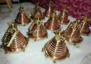 Hanging Cargo Pendant Spot Light Vintage Style Nautical Brass And Copper 10 Piece