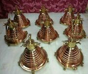 Hanging Cargo Pendant Spot Light Vintage Style Nautical Brass And Copper 8 Piece