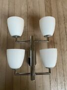 Pair Fontana Arte Wall Sconce 006/4 Out Of Production Ponti Bauhaus Style Italy
