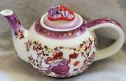 Paul Cardew 2004 Red Hat Society Small Teapot And Lid