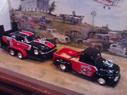 124 Scale Diecast3 Pc. Pro Street Setand03948 Ford F-1 67 Ford Mustang + Trailer