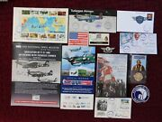 16 Tuskegee Airmen Collectibles 28 Autographs - Book - 1st Days - Pamphlets+