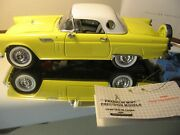 Franklin Mint 1/24 1956 Russian Yellow Ford Thunderbird W/ Top Limited