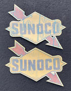 Vintage Lot 2 Nos 13andrdquo Sunoco Blend-o-matic Service Station Garage Gas Pump Decal