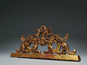 8.4and039and039 Chinese Antique Penholder Old Bronze Gold Penholder Beast