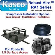 Kasco Aeration Robust-aire Rah1pm For Ponds To 1.5 Surface Acres 240v Post Mount