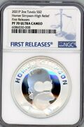 Homer Simpson 2021 Tuvalu 2oz Silver Proof High Relief Coin Ngc 70 First Release
