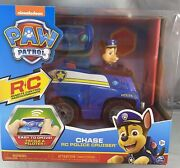 Paw Patrol Vehicle Chaseand039s Rc Police Cruiser 2 Way Steering Remote Control New