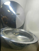 Pyrex Usa 024 2 Qt Casserole Bowl With Silver Plated Carrier And Lid, Mint Vtg