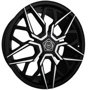 4 G46 20 Inch Black Rims Et20 Fits Ford Expedition 4wd 2000 - 2002