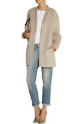 Nwt 1600 Bassike Australia 🇦🇺 Beige Wool Alpaca + Leather Cocoon Coat 4 | 16