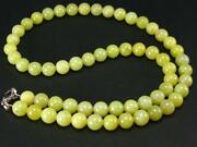 Rare Healerite Necklace From Usa - 18 - 8mm Round Beads