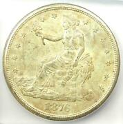 1876-s Trade Silver Dollar T1 Coin - Certified Icg Ms63 Unc Bu - 1380 Value