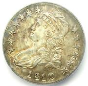 1810 Capped Bust Half Dollar 50c Coin - Certified Icg Ms60 Details Unc - Rare