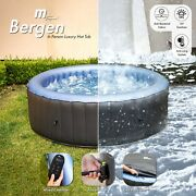 2021 Mspa Bergen Hot Tub Jacuzzi Inflatable Spa 4 And 6 Person Inc Uv Sanitizer